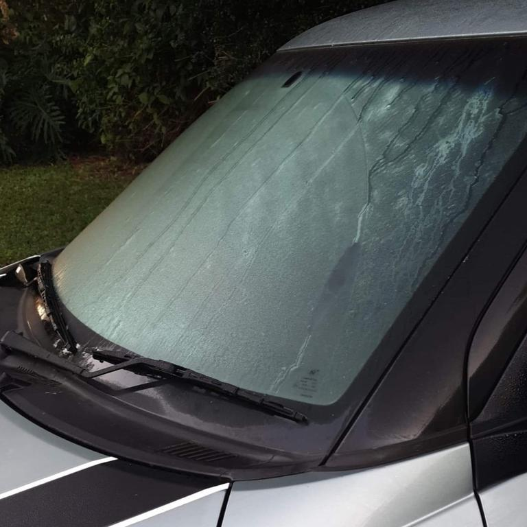 Frosty windscreen in East Barron. PIC: Supplied