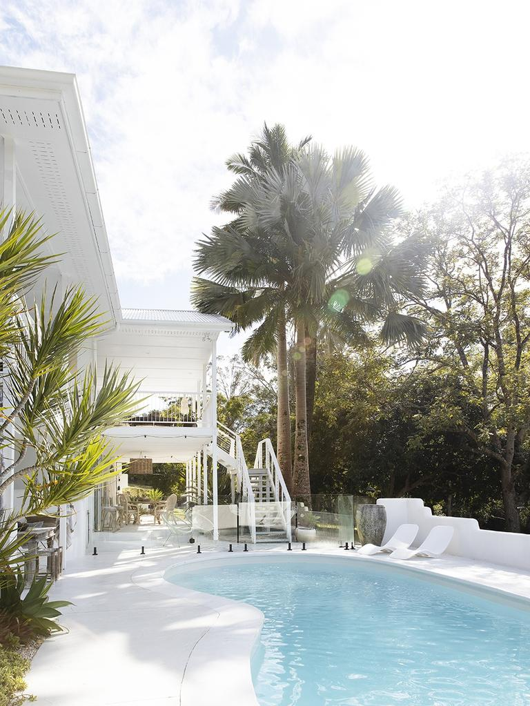 Mr Brown said the pool area was one of his favourite things about the renovation. Photo: Louise Roche