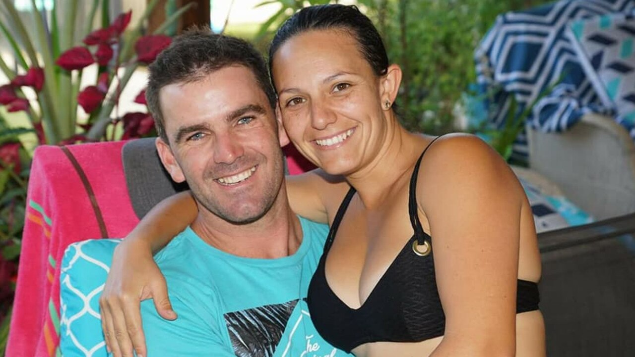 Shark attack victim Matthew Tratt, with his wife Kayla, Matthew died following a fatal shark bite off Fraser Island. Photo: Facebook