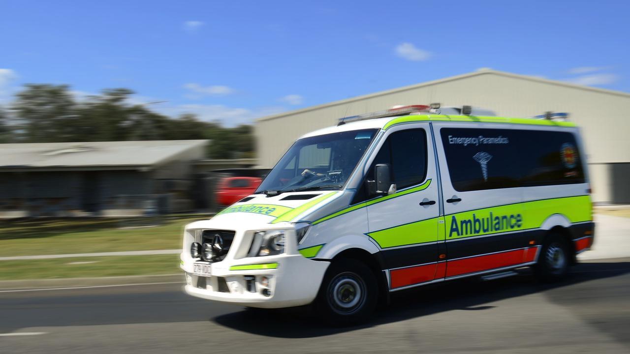 Queensland Ambulance Service Paramedics are on scene at a motorcycle crash near Kullogum.