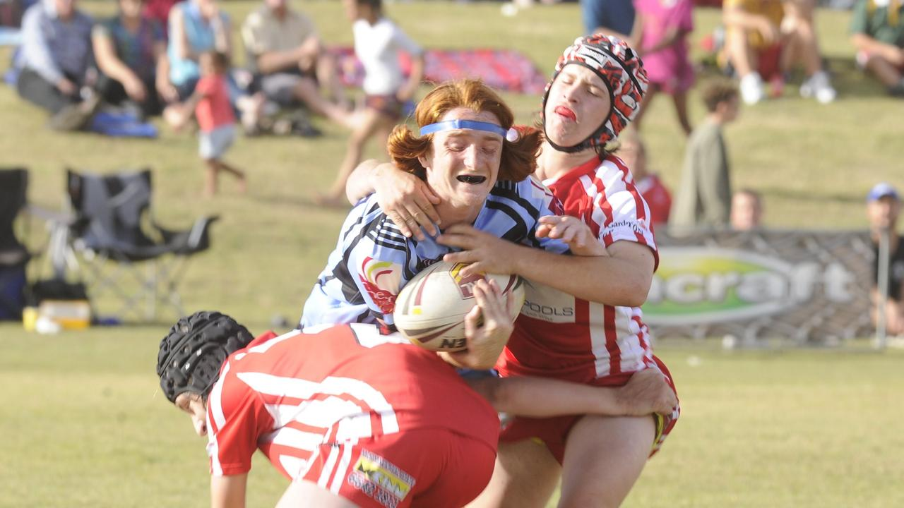 U15s South Grafton Rebels VS the Ballina Seagulls at the Group 1 Junior Rugby League grand final at the Yamba Sports Complex.