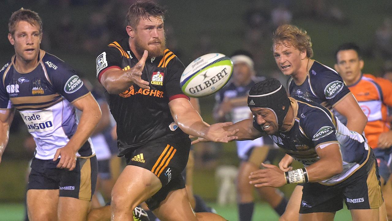 Liam Polwart gets a pass away at Sunshine Coast Stadium in 2018. PHOTO: Warren Lynam