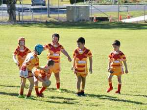 Coffs Comets take on Bowra Black in the under 7's at