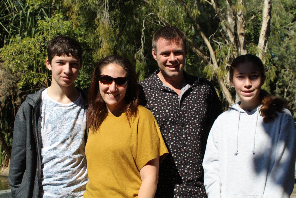 Jarrod Lewis, Vanessa Lewis, Ben Johnson and Zoe Lewis.