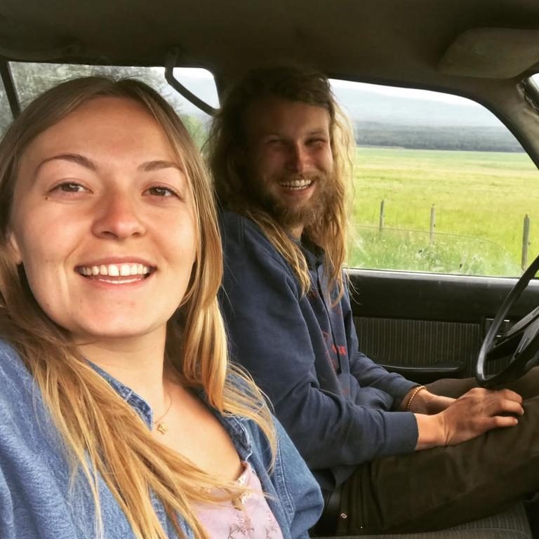 Chynna Deese and Lucas Fowler in the van ahead of their ill fated Canada trip. Picture: Facebook