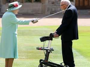Queen knights 100-year-old war vet