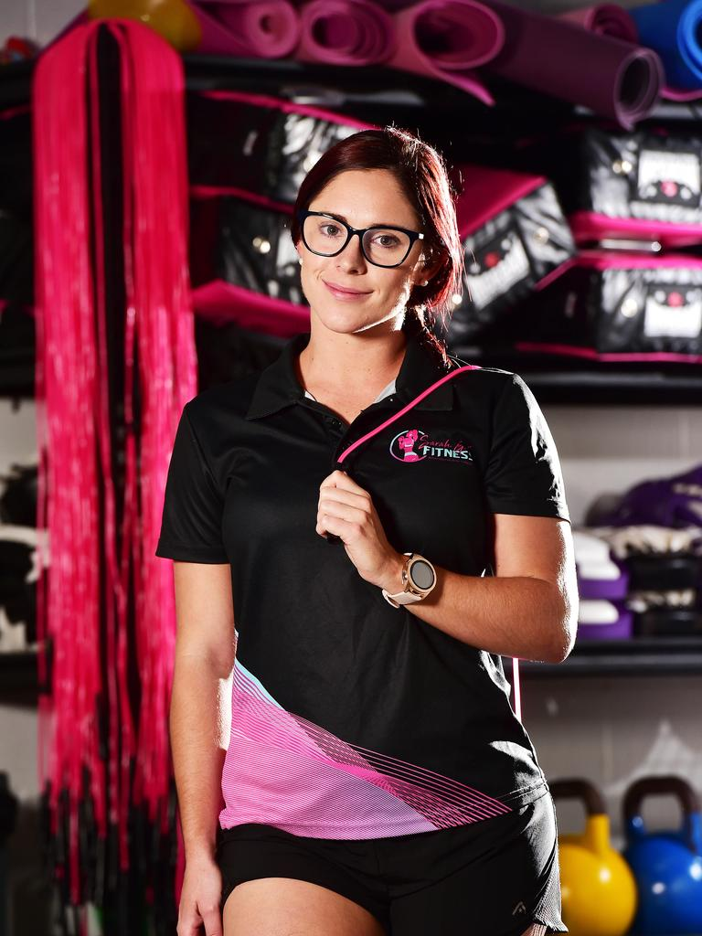 Sarah Gale, owner Sarah Gale fitness pictured at her Ingham Road headquarters. Picture: Shae Beplate.