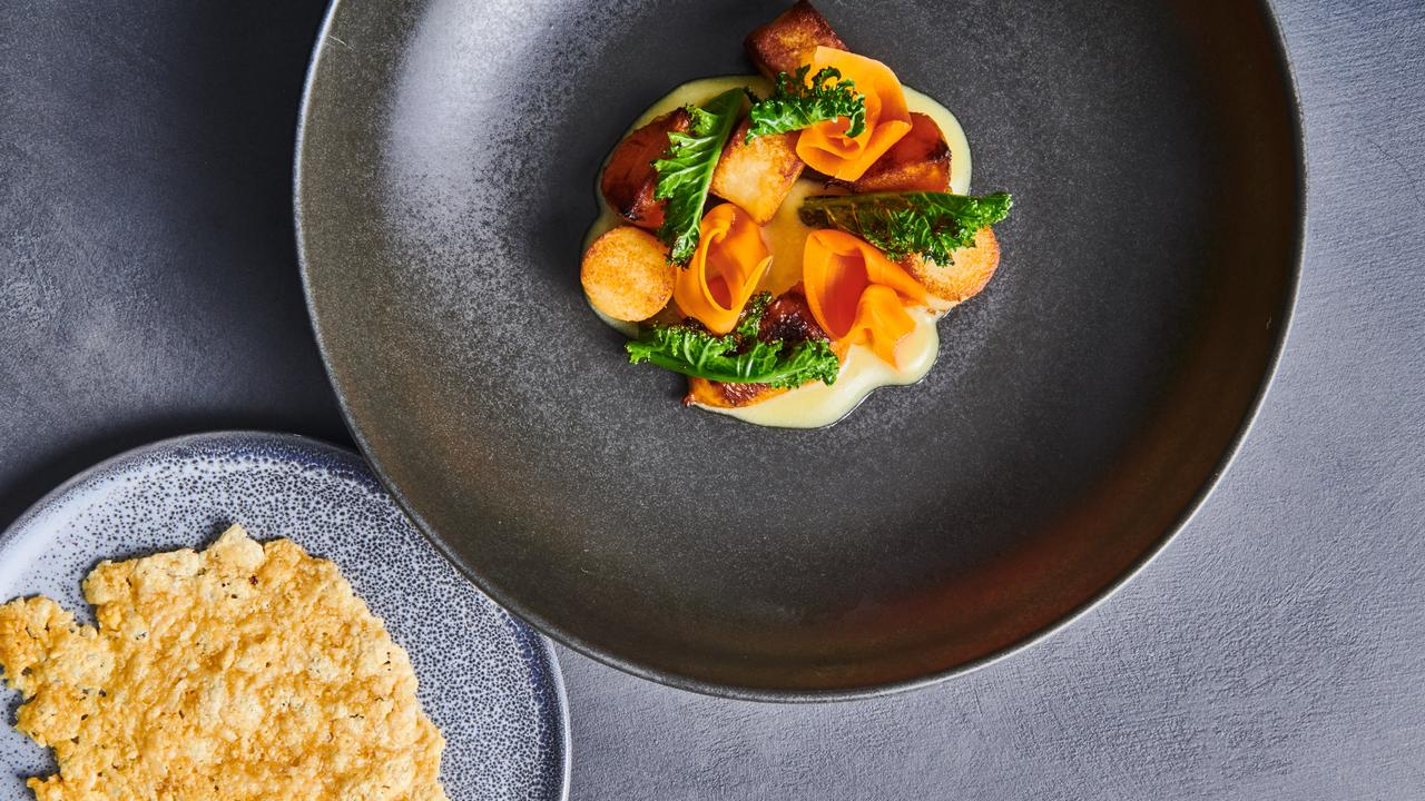 Fine dining-style menu: A dish from Spicers Clovelly restaurant The Long Apron.