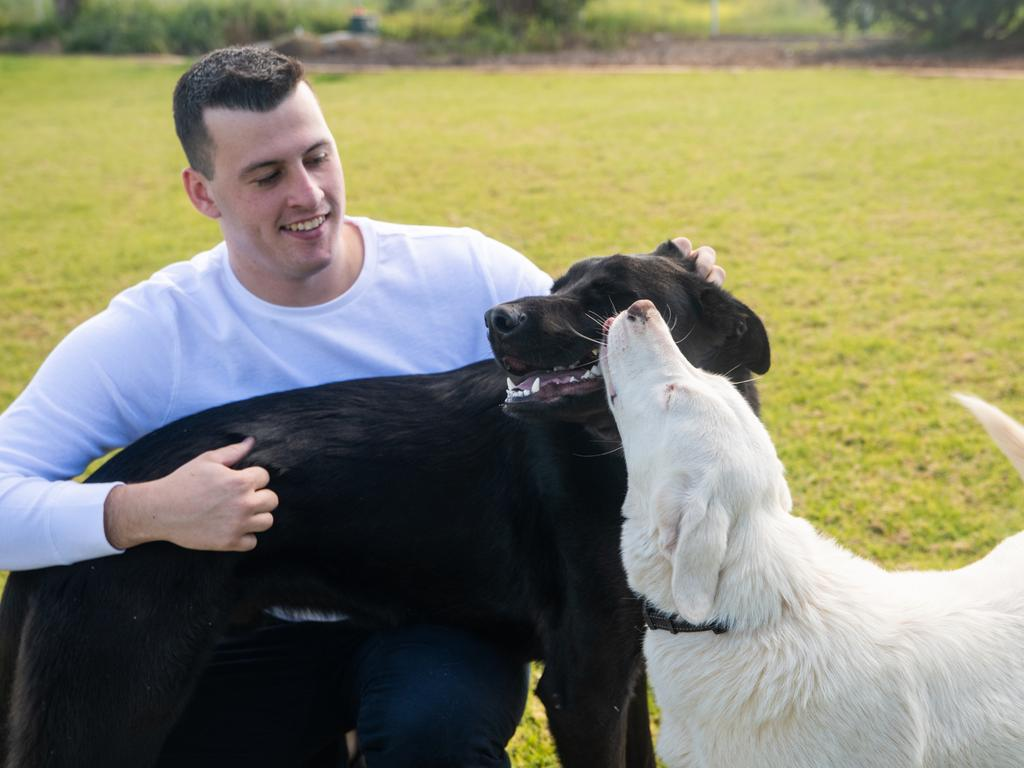 Jasper Bartlett has always been an animal lover — but he couldn't adopt his own two dogs until he spent years getting vital injections.