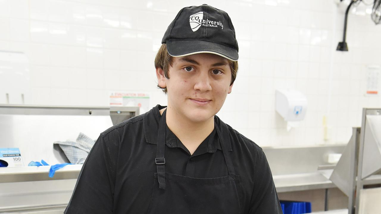 Christopher Inskip's desire to be a chef has been significantly boosted after CQUniversity's hospitality courses helped him secure a job in the kitchens of the University's Capricornia Residential College.
