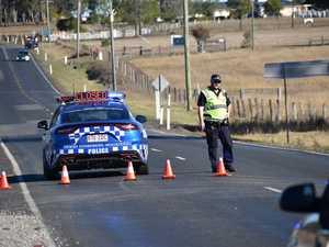 Road blocked after three-vehicle crash