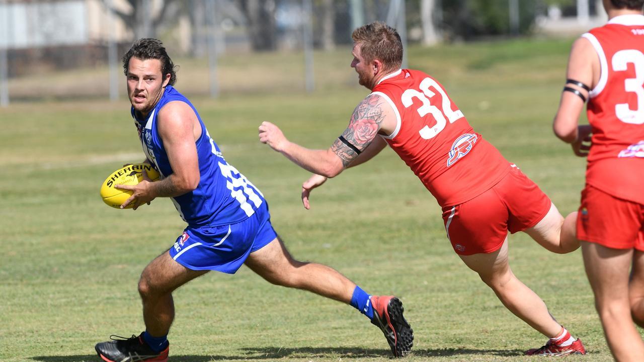 AFL CAPRICORNIA: Brothers' Luke Rumpf and Yeppoon Swans' Samuel Nicholls