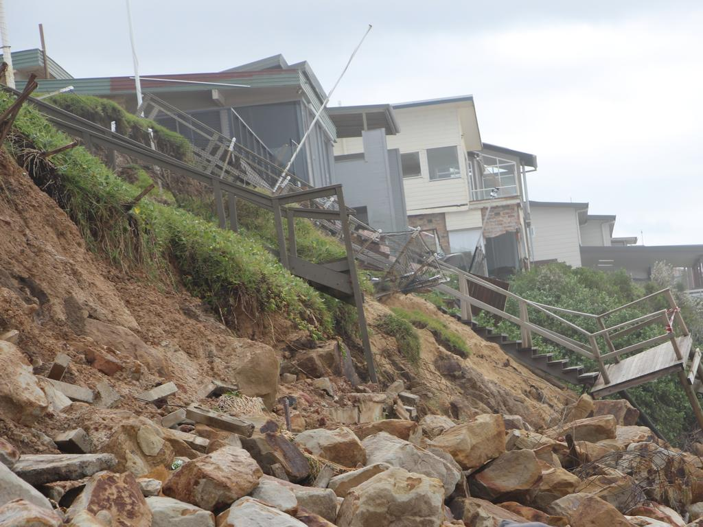 The damage at Wamberal Beach.