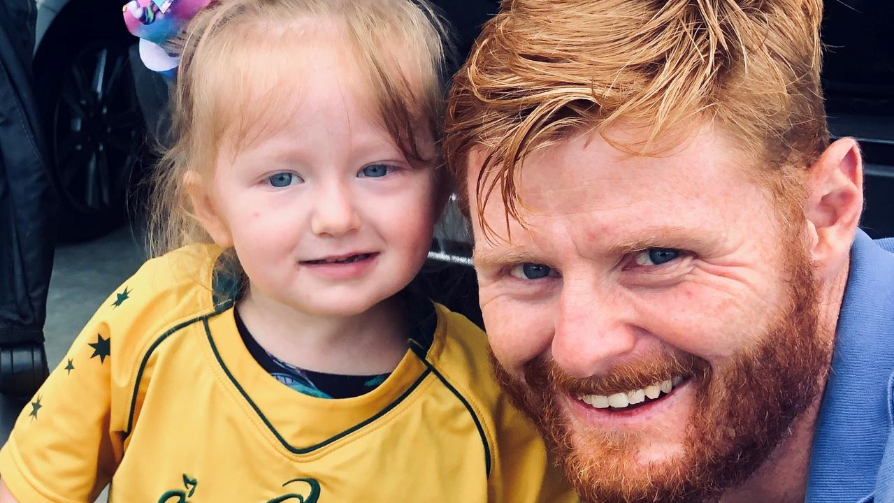 Dr Matt Dun with his four-year-old daughter Josie, who died from brain cancer.