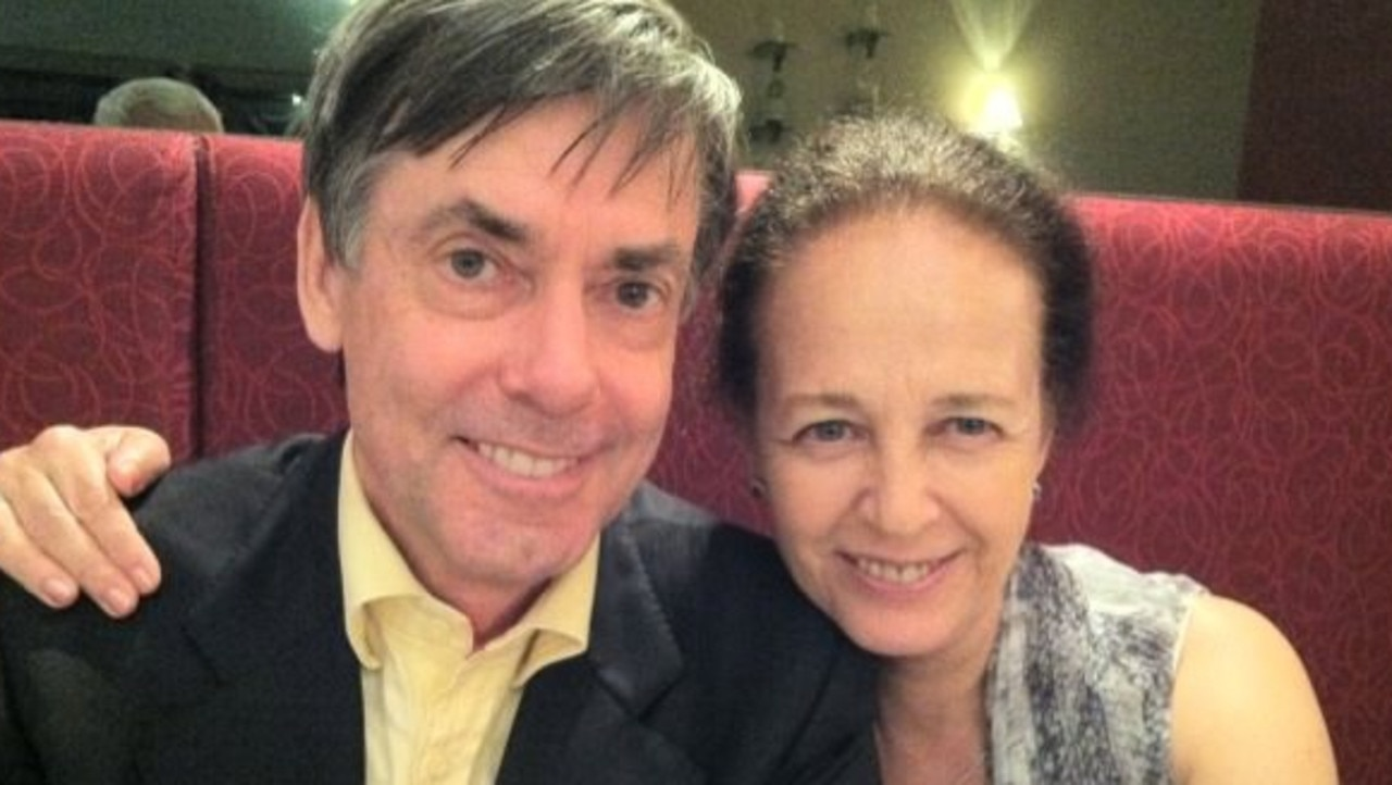 Retired accountant Nigel Tolley pictured with wife, Dorine Tolley. Pic: Facebook.