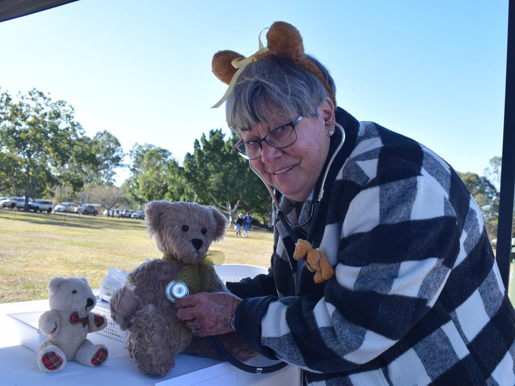 TEDDY MARKET: Community Centre representative Theresa Webster at the Howard Teddy Markets' teddy clinic. Photo: Stuart Fast