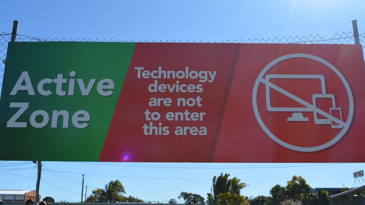 An active zone free of technology has been built at Maryborough State High School.