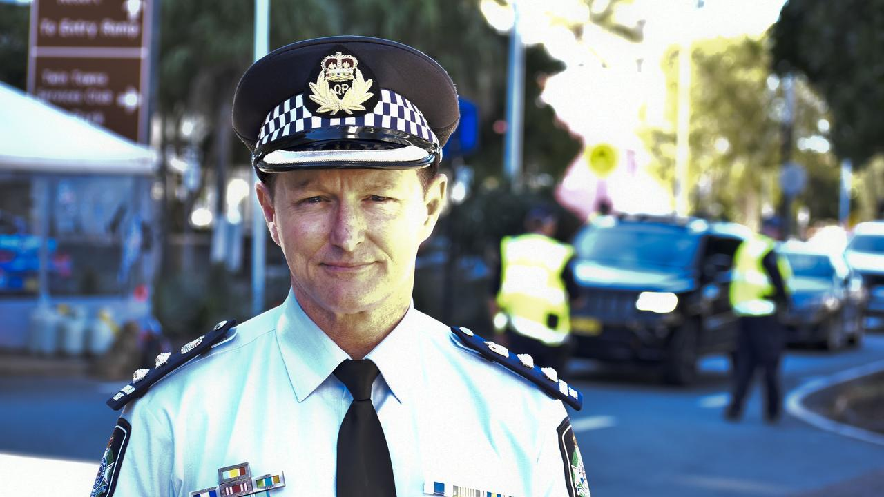 Queensland Police's Chief Superintendent Mark Wheeler at a press conference at the Griffith St, Coolangatta border checkpoint last week. Photo: Jessica Lamb
