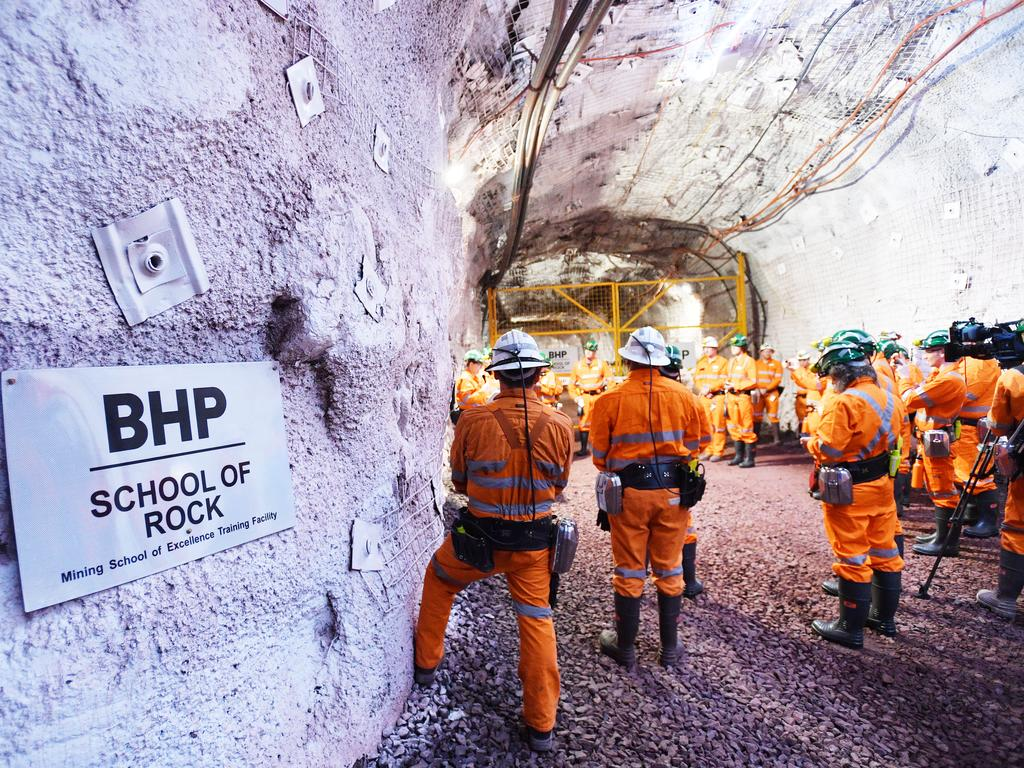 "A BHP spokesman said recruits would go through an ""intensive"" development program to expand their skills and ensure safety remained the ""highest priority"". Picture: David Mariuz/AAP"