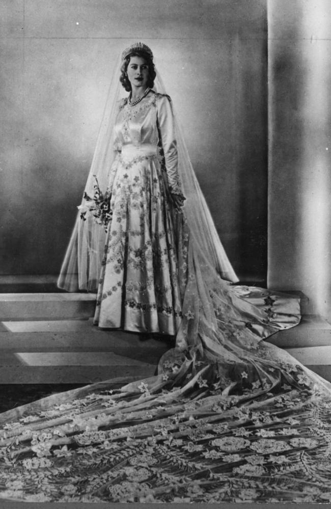 Sir Norman Hartnell designed the Queen's wedding dress in 1947.