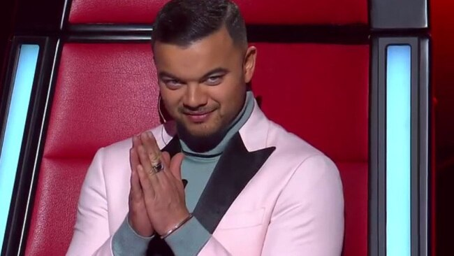 Guy Sebastian on The Voice.