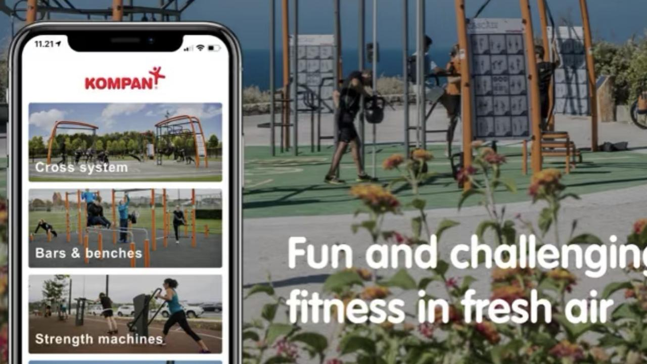 The Kompan Fit app provides demonstration videos to guide, engage and motivate the Ballina community to get active at Commemoration Park.