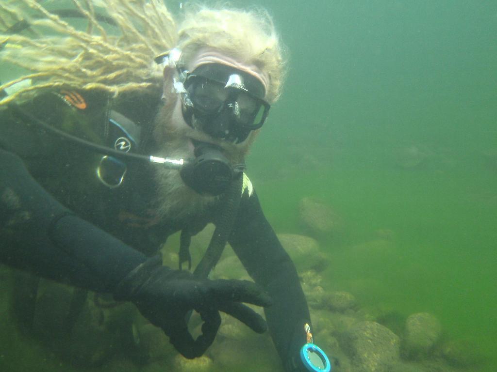 Stephen Ward on a Rainforest Scuba dive. Picture: Contributed