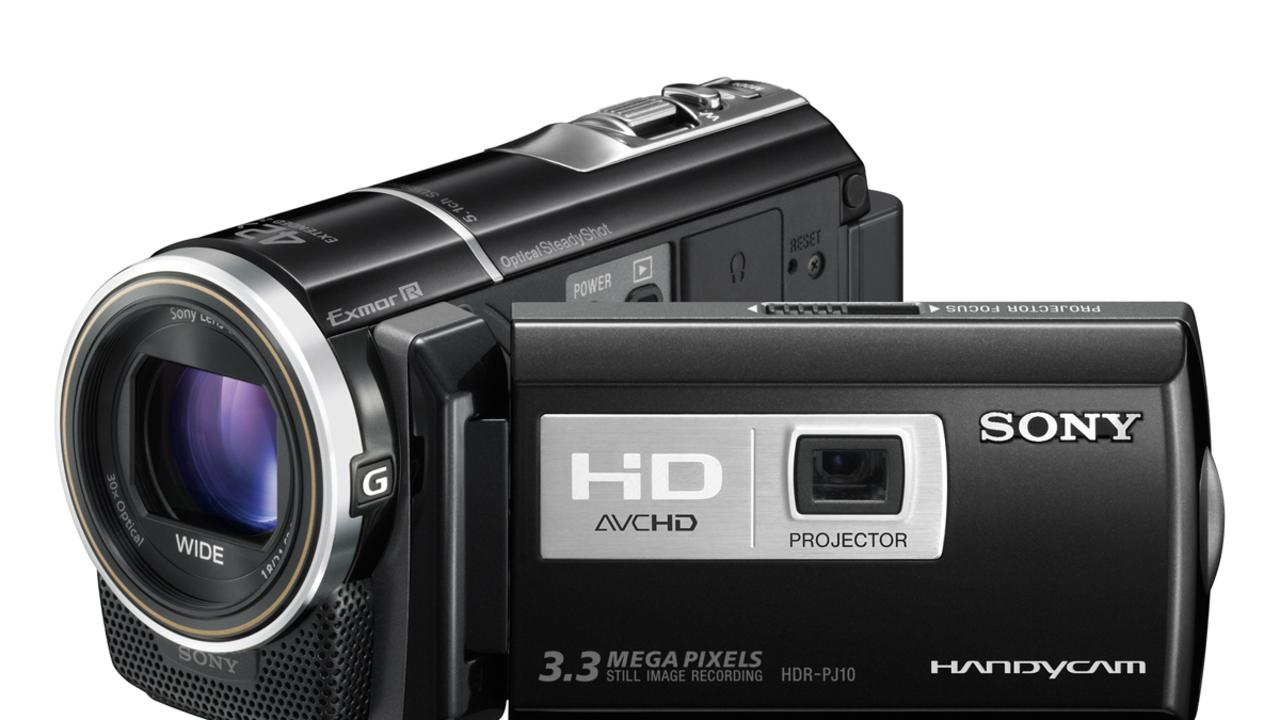 Sony HDR-PJ10 video camera.