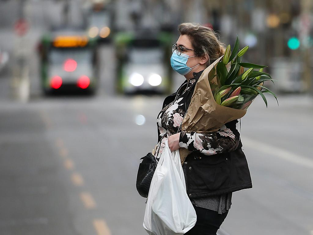 People in Melbourne will now have to wear masks from Wednesday as the state of Victoria battles a second wave of COVID-19. Picture: NCA NewsWire/Ian Currie