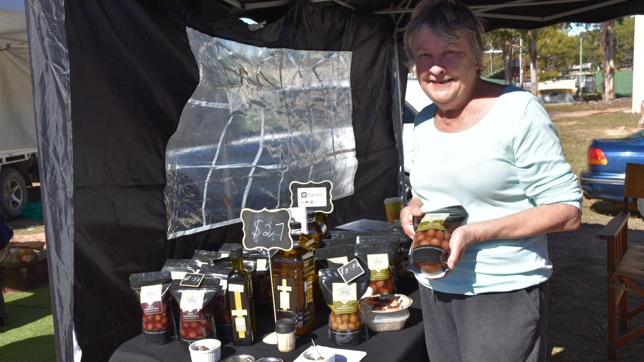 FRUITS OF LABOUR: The Olive & Olive Oil Agent owner Kathy McDonald said the markets had been great for catching up with old friends. Picture: Jessica Paul