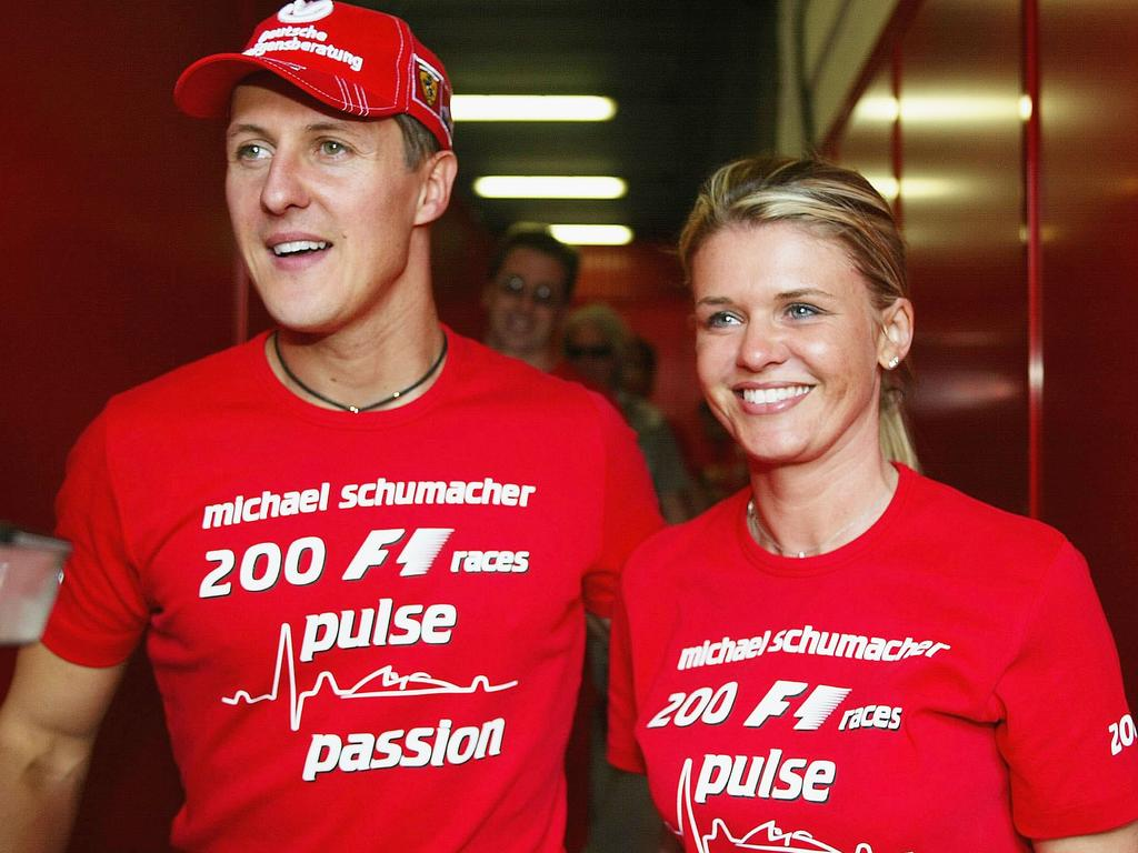 Michael Schumacher and wife Corrina.