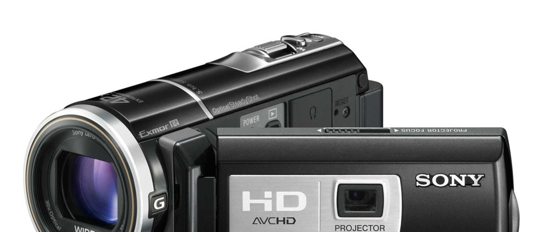 Sony HDR-PJ10 video camera.