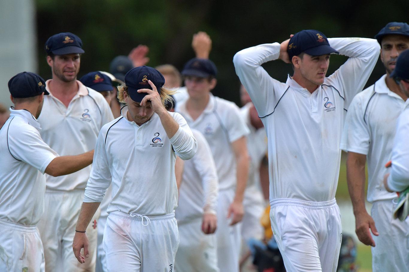 Maroochydore Blue against Gympie cricket grand final. Maroochydore Blue fell short Photo: Warren Lynam / Sunshine Coast Daily