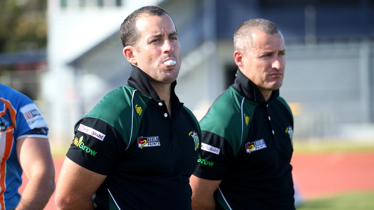 Coaching brothers Ben and Shane Walker. PICTURE: STEWART McLEAN