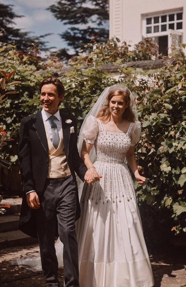 The bride wore a vintage dress. Picture: Instagram