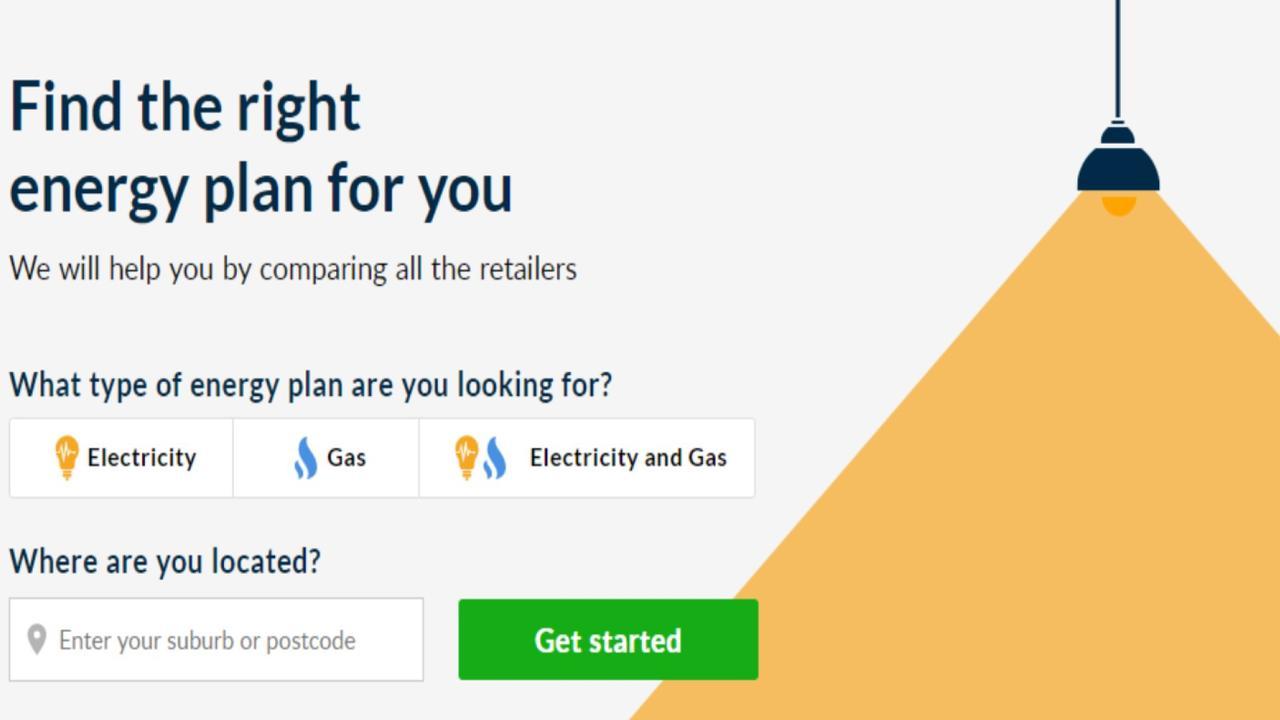 A screenshot of the Energy Made Easy website.