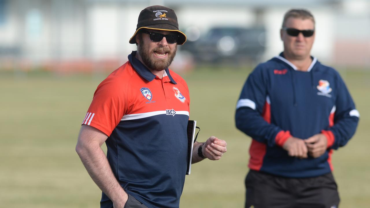 St Patrick's College coach Chad Buckby.