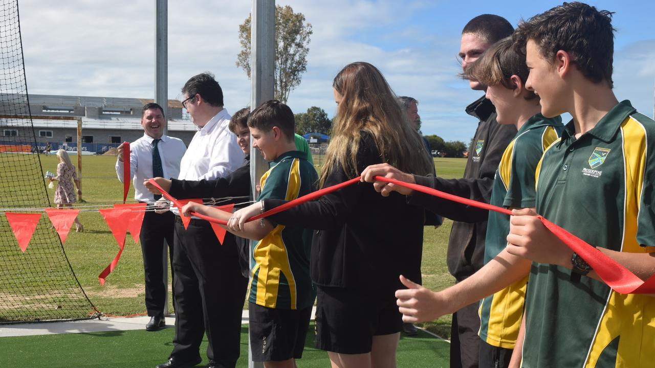 Dawson MP George Christensen cut the ribbon on Proserpine State High School's new cricket nets today.