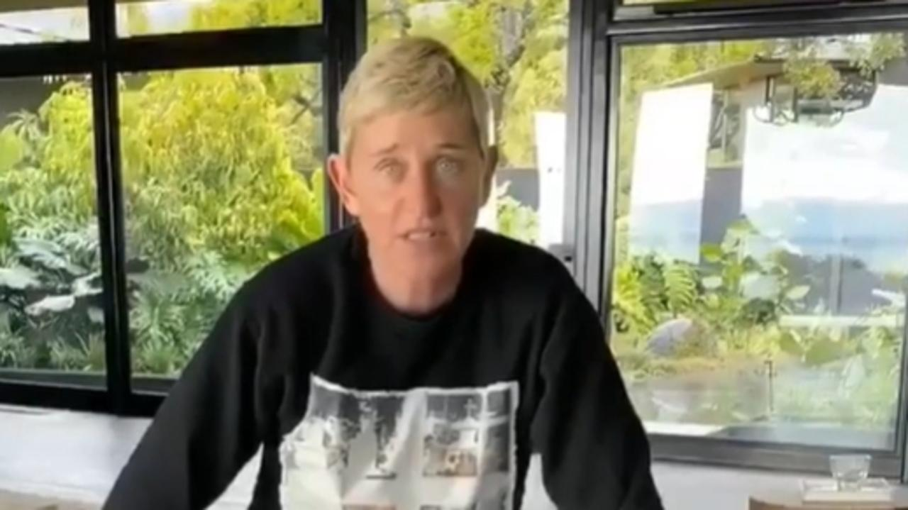 Ellen has continued broadcasting her talk show from home.
