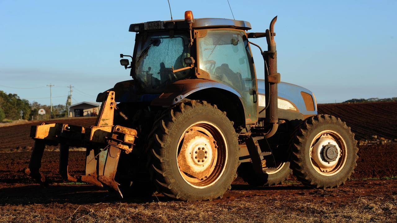 A man has been taken to Gatton Hospital after he was injured in a tractor incident.