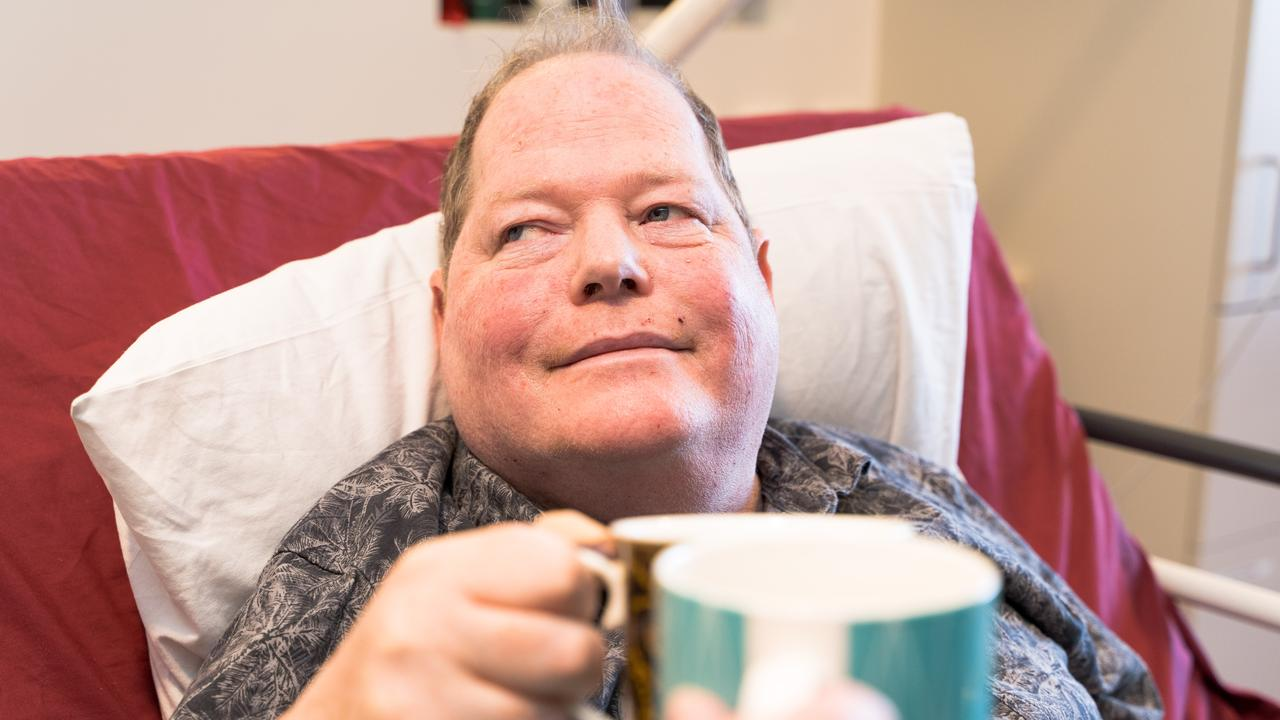 Donald Mortiss has moved to an apartment in Springfield from an aged care facility thanks to the NDIS.