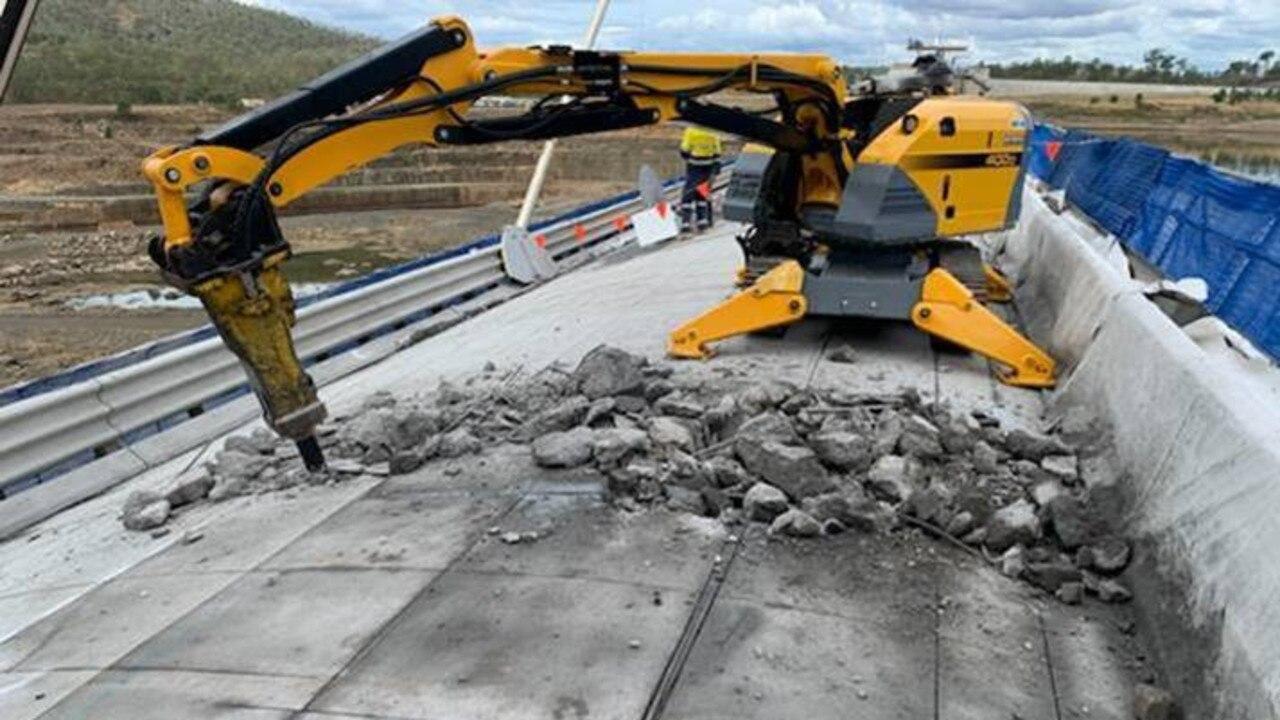 BUSINESS UNDERWAY: Works currently being undertaken at Paradise Dam