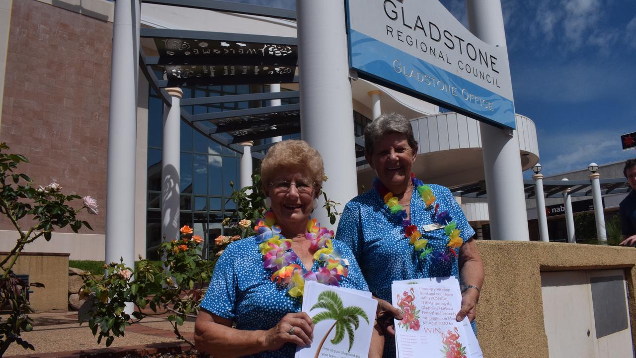 Quota Club secretary Aileen Weeden and president Christine Saunders.