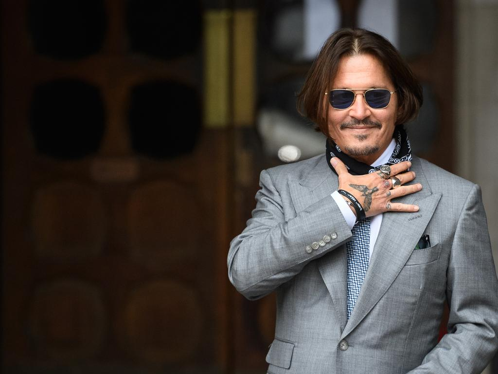 Johnny Depp allegedly threw a mobile phone at Amber Heard's face. Picture: Getty Images