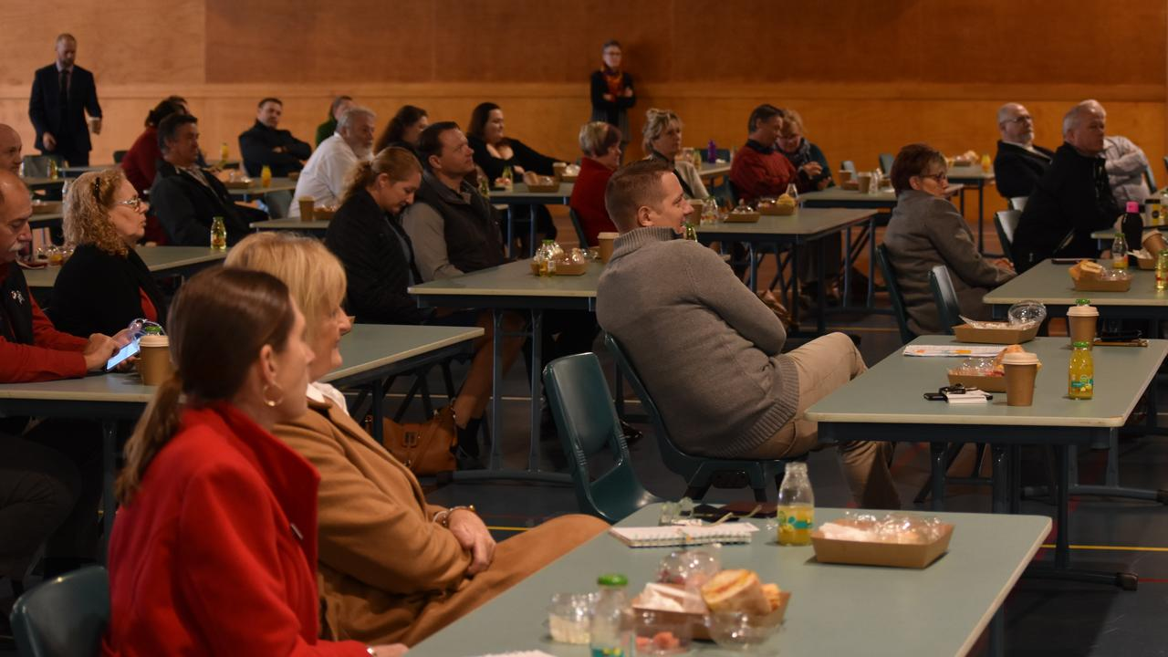 A strictly social distanced Gympie Chamber of Commerce meeting July 20, 2020 at The Pavilion where the subject of the guest speaker was Artificial Intelligence.