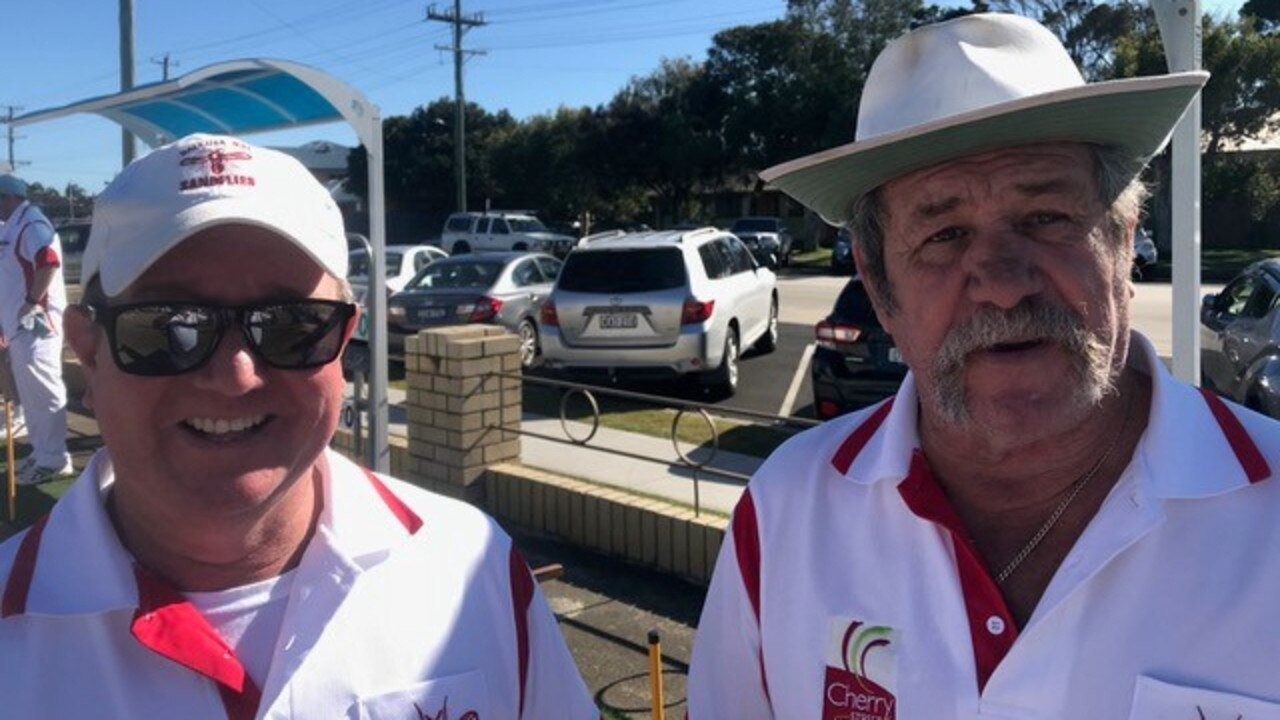 DYNAMIC DUO: At the Cherry St Sandflies Sunday game were Graeme Houston and Kenny Arthur.