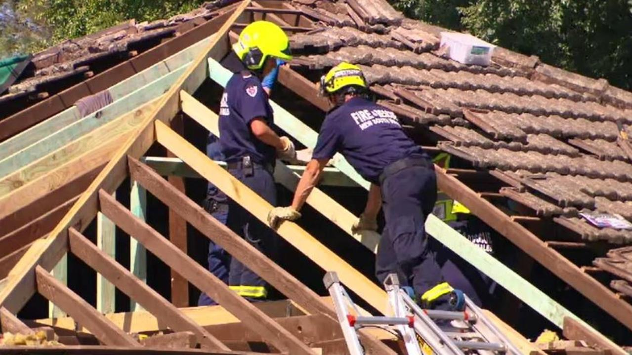The roof of the Carlton home where Luke Bray died. Picture: Active Media