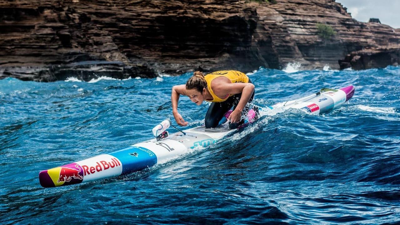 Jordan Mercer during one of winning Molokai crossings: PHOTO: JIANCA LAZARUS / RED BULL