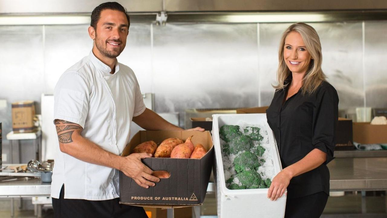 Melissa Donnelly with partner and chef Raphael Miragaia.