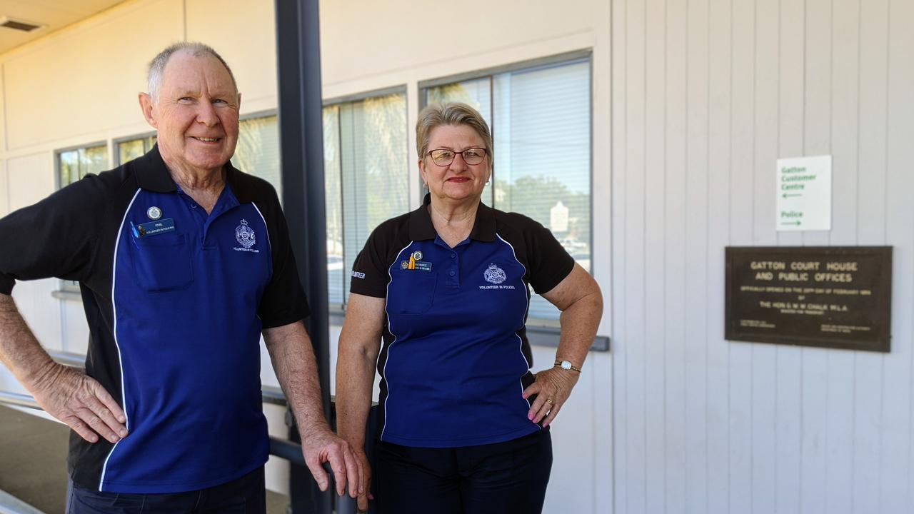 Phil and Anne Semple volunteered at Gatton Magistrates Court for more than 11 years before resigning. Photo: Ebony Graveur